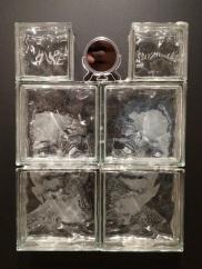 24x28x4 engraved glass blocks